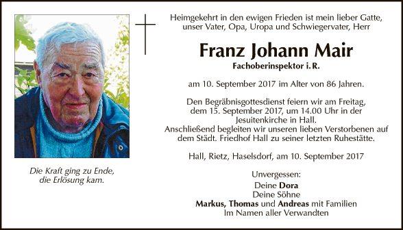 Franz Johann Mair
