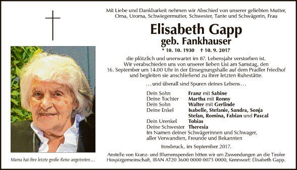 Elisabeth Gapp
