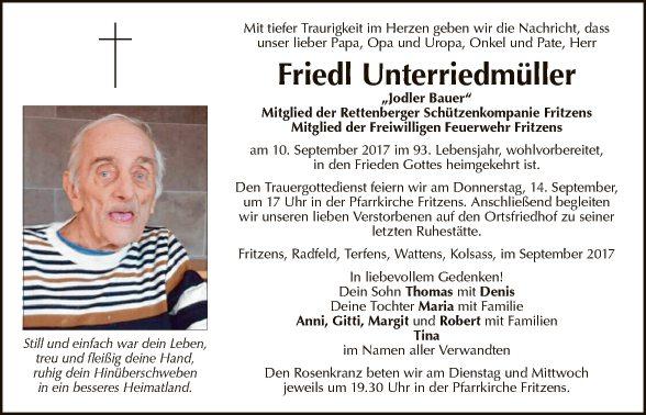 Friedl Unterriedmüller
