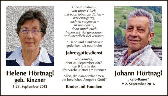 Helene und Johann Hörtnagl