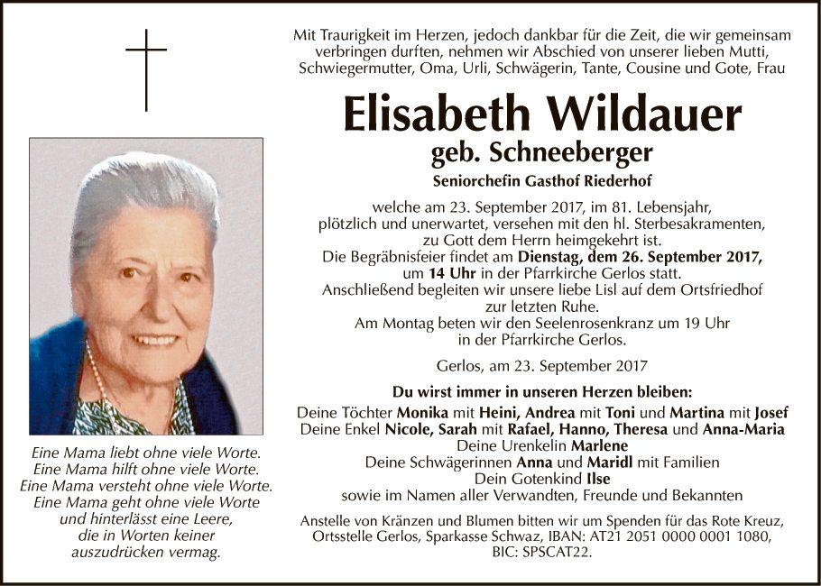 Elisabeth Wildauer