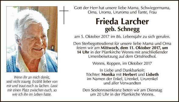 Frieda Larcher