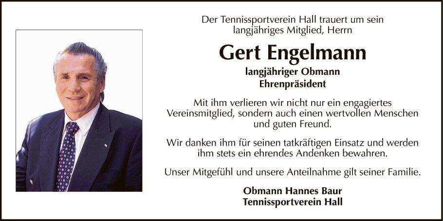 Traueranzeige Von Gert Engelmann Vom 21 10 2017