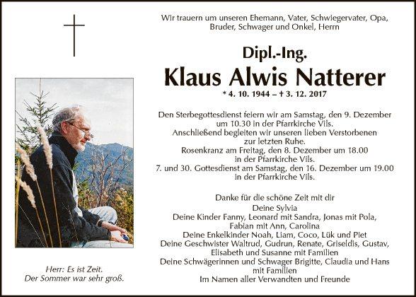 Dipl.Ing. Klaus Alwis Natterer