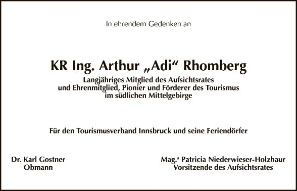 Kom. Rat Ing. Arthur Rhomberg