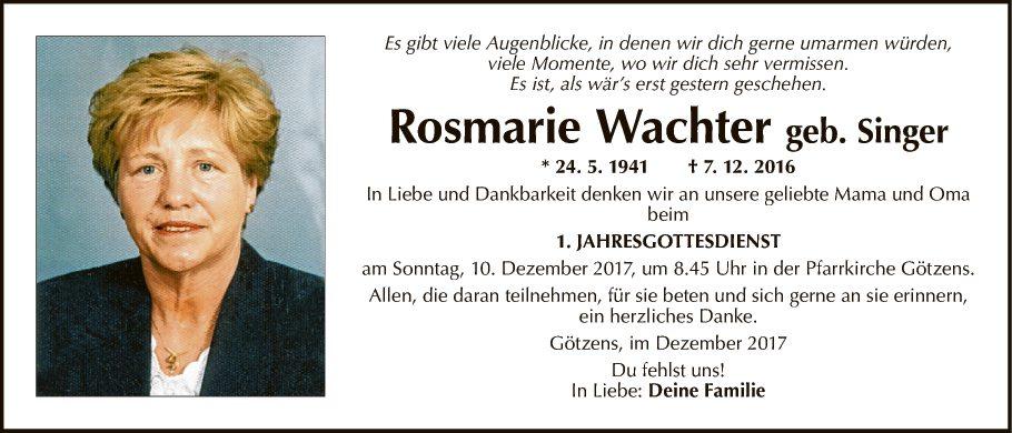 Rosmarie Wachter