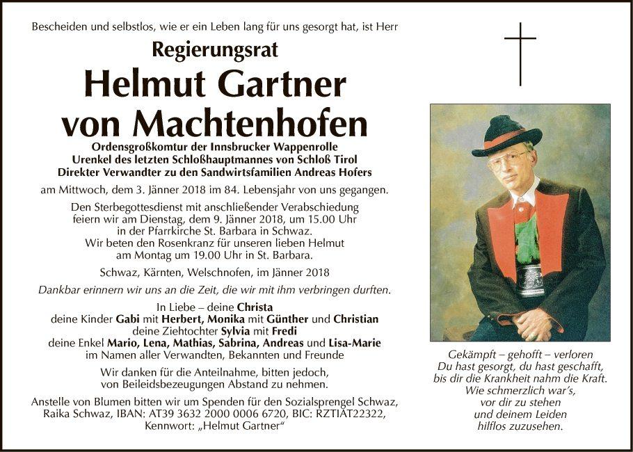 Helmut Gartner von Machtenhofen