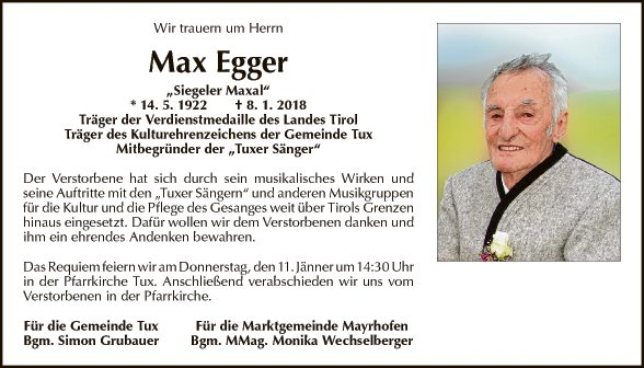 Max Egger