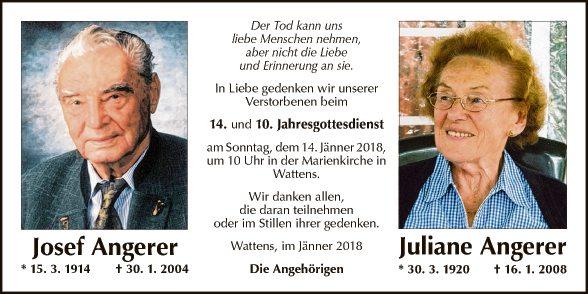 Josef und Juliane Angerer