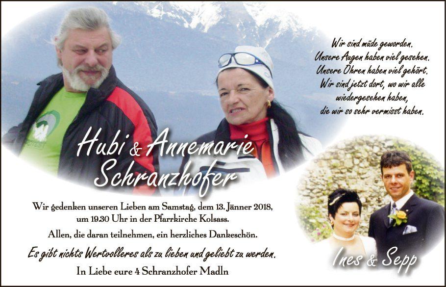 Hubi & Annemarie Schranzhofer