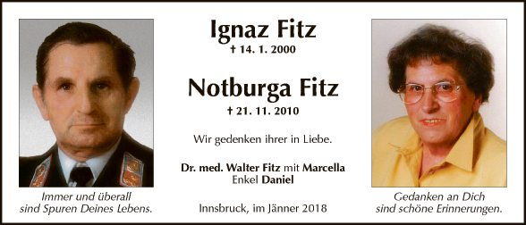 Ignaz und Notburga Fitz