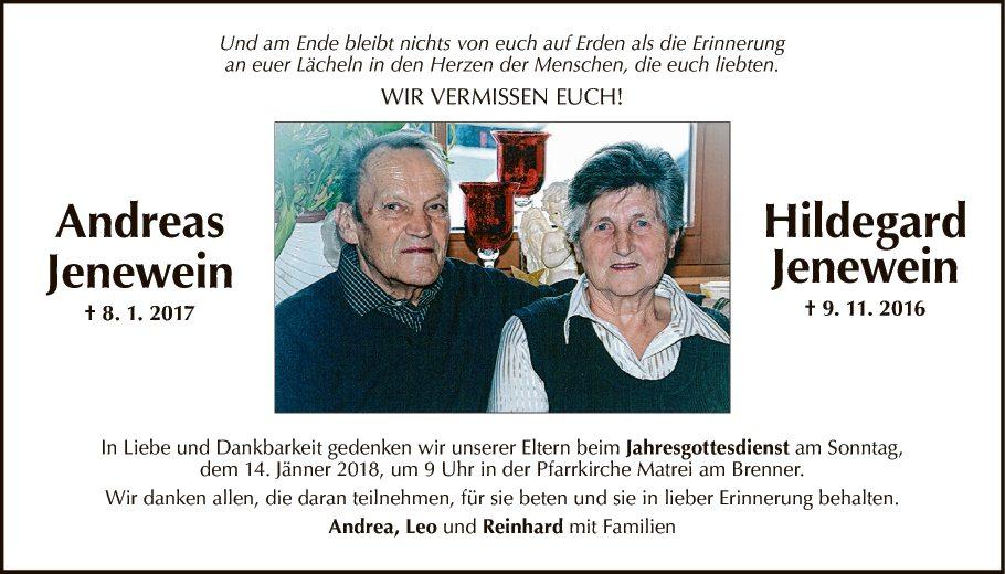 Andreas und Hildegard Jenewein