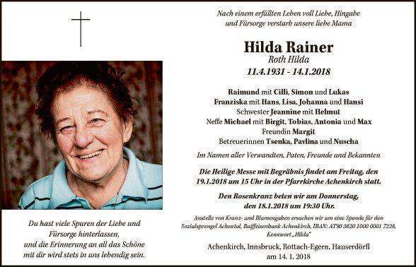 Hilda Rainer