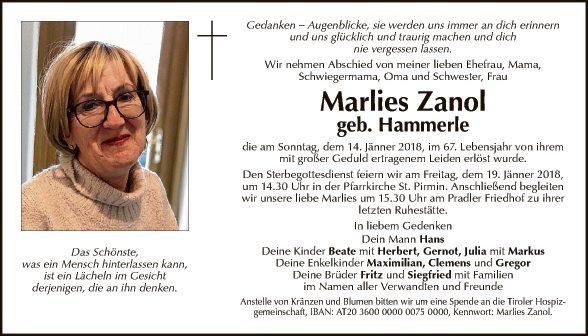 Marlies Zanol