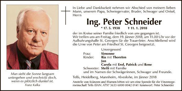 Ing. Peter Schneider