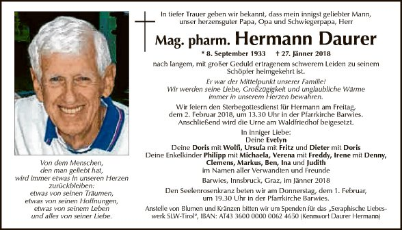 Mag. pharm. Hermann Daurer