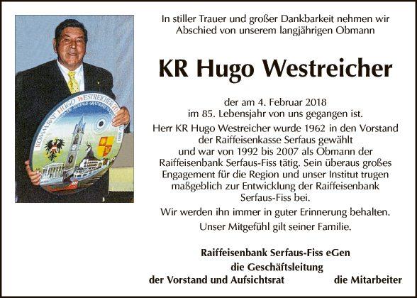 KR Hugo Westreicher