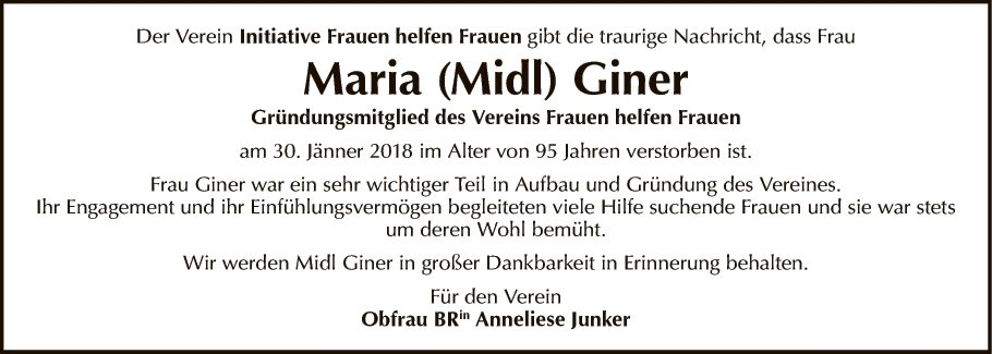 Maria (Midl) Giner