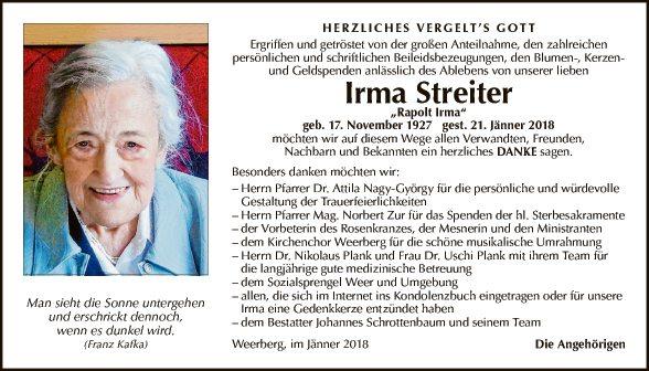 Irma Streiter