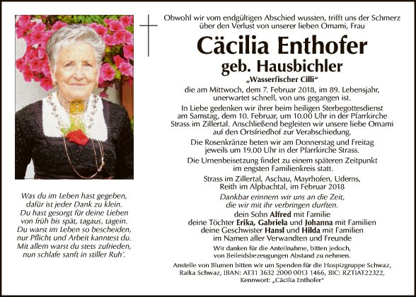 Cäcilia Enthofer