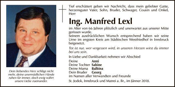 Ing. Manfred Lexl