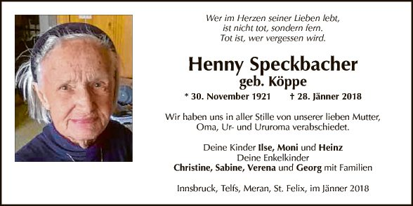 Henny Speckbacher
