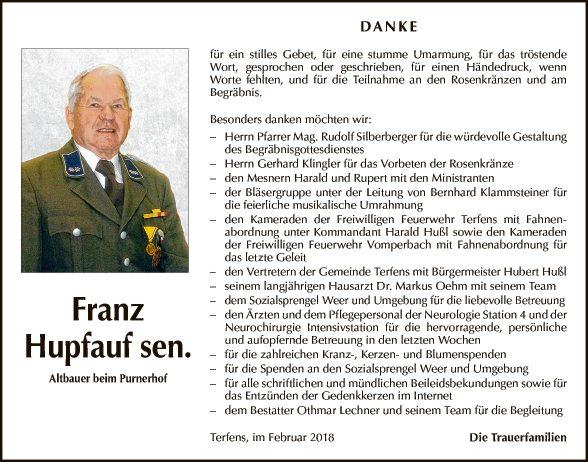 Franz Hupfauf sen.