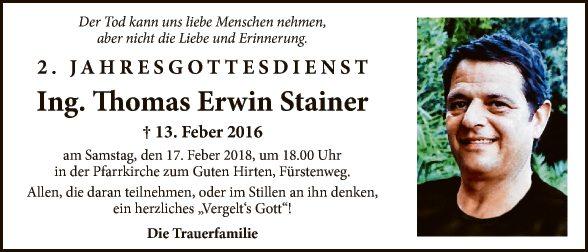 Ing. Thomas Erwin Stainer