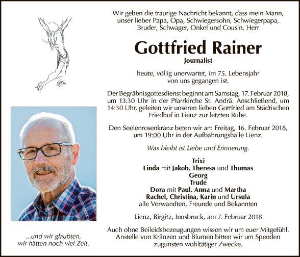 Gottfried Rainer