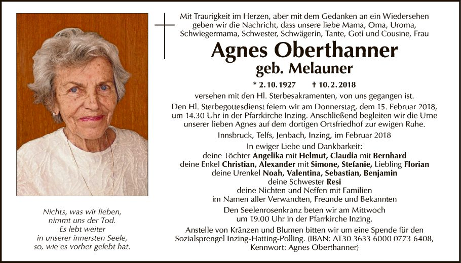 Agnes Oberthanner