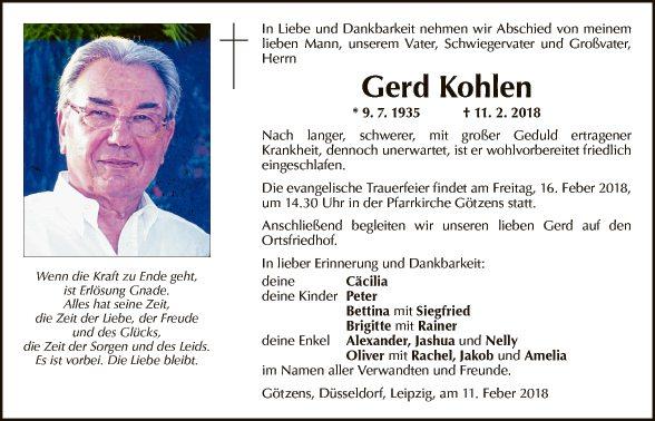 Gerhard Kohlen