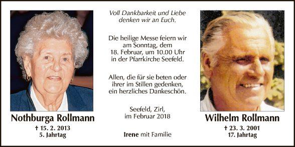Wilhelm und Nothburga Rollmann