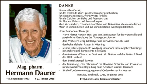 Mag. pharm. Hermann Daurer