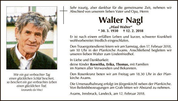 Walter Nagl