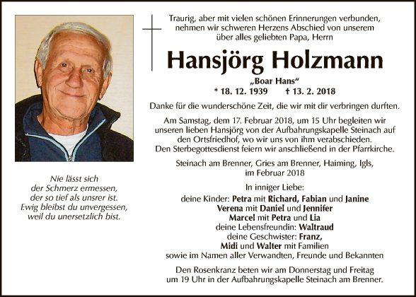 Hansjörg Holzmann