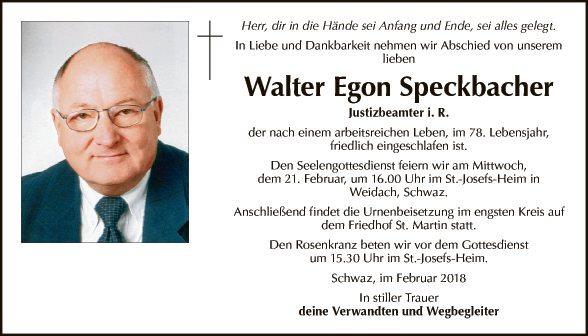 Walter Speckbacher