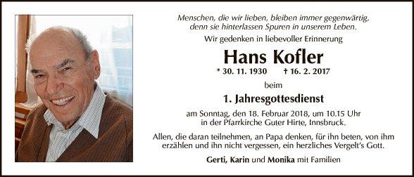 Hans Kofler