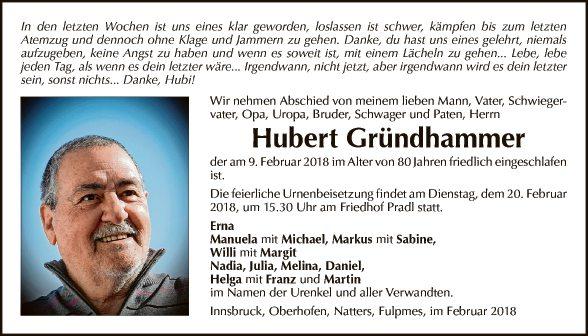 Hubert Gründhammer