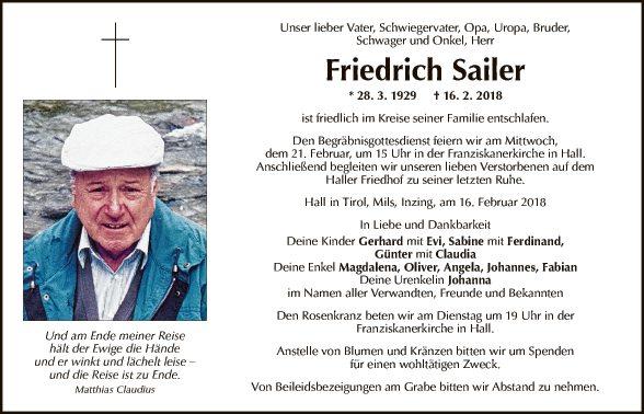 Friedrich Sailer