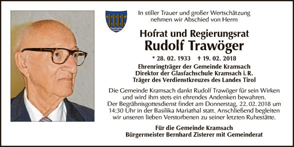 Hofrat und Reg.Rat Rudolf Trawöger
