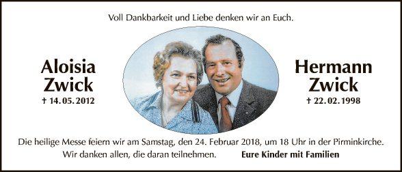 Aloisia und Hermann Zwick