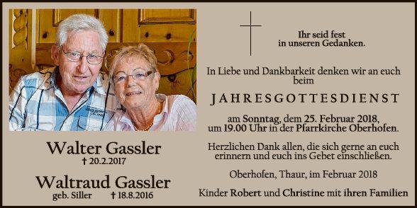 Walter und Waltraud Gassler