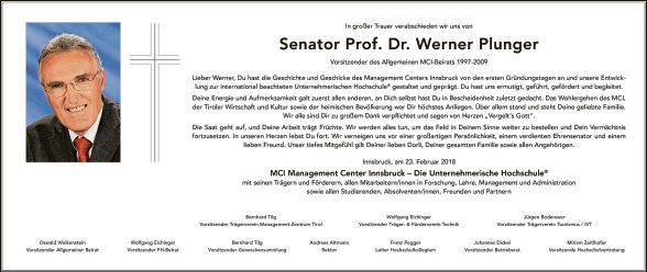 Dr. Werner Plunger