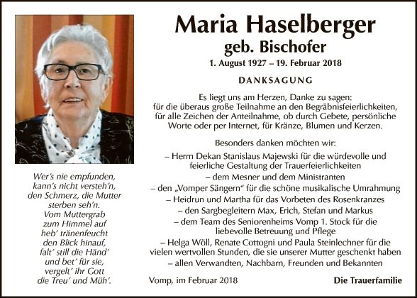 Maria Haselberger