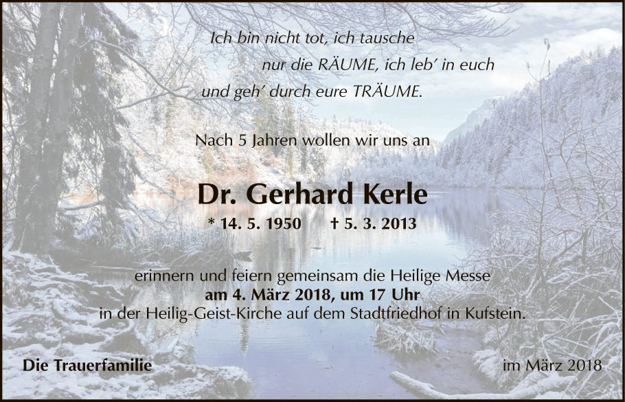 Dr. Gerhard Kerle