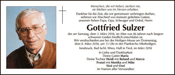 Gottfried Sulzer