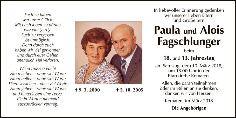 Paula und Alois Fagschlunger
