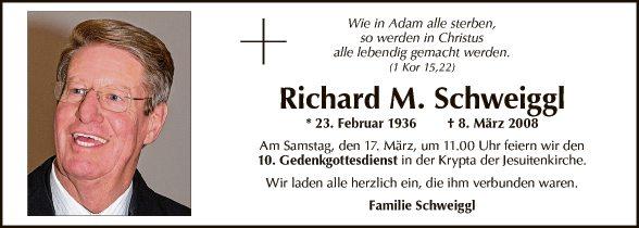 Richard M. Schweiggl