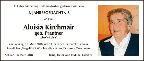 Aloisia Kirchmair