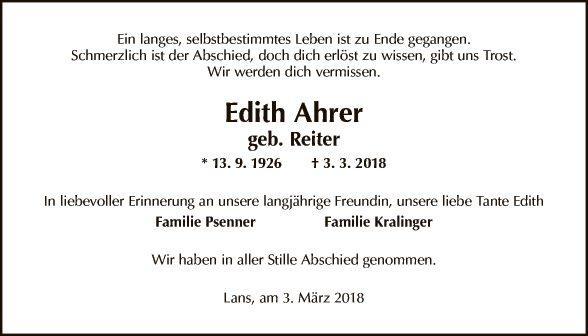 Edith Ahrer